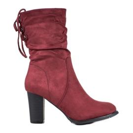 J. Star Høje Bourgogne støvler rød