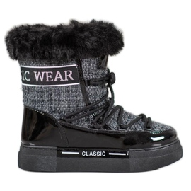 Bella Paris Trendy snestøvler klassisk grå