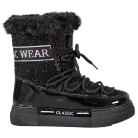 Bella Paris Trendy snestøvler klassisk sort