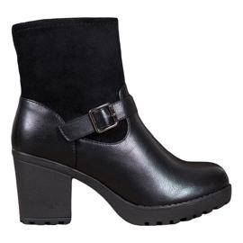 J. Star Moderigtige støvler på platformen sort