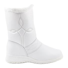 Hvide snestøvler booties 69