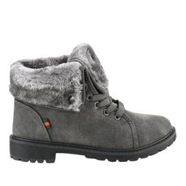 Grå isolerede kvinders støvler TL54-3