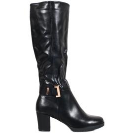 SHELOVET Elegante støvler med spænde sort