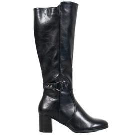 Støvler med VINCEZA-spænde sort