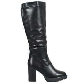 SHELOVET Sorte støvler med Eco-læder