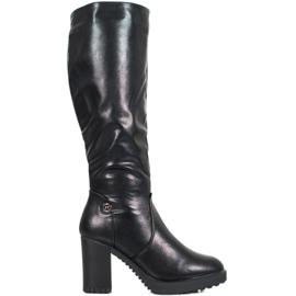 SHELOVET Støvler på platform sort