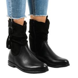 Sort isolerede flade støvler til kvinder 2956