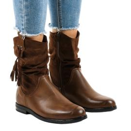 Brunisolerede flade støvler til kvinder 2956