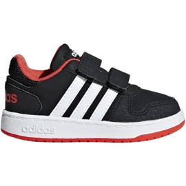 Adidas Hoops 2.0 Cmf I Jr B75965 sko sort