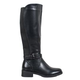 Ideal Shoes Klassiske støvler sort