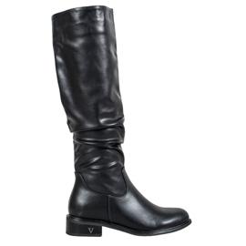 Klassiske støvler fra VINCEZA sort