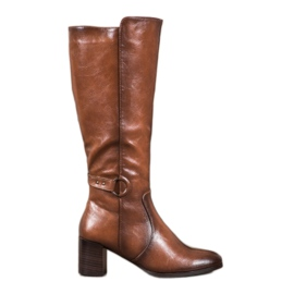 Støvler med VINCEZA-spænde brun