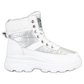Bella Paris Sneakers med fåreskind hvid