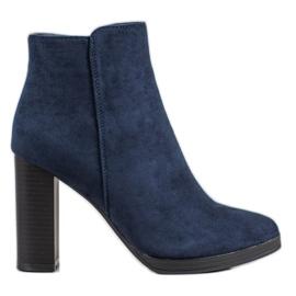 Ideal Shoes Classic High Heels blå