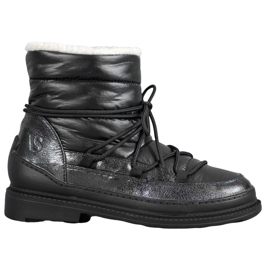 Vices Tekstil sne støvler sort