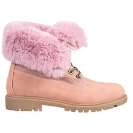 Vices Lyserøde sneakers med roll-up øvre pink