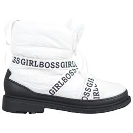 Vices Pige Boss sne støvler hvid