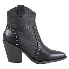 Small Swan Varme Cowboy-støvler med høje hæle sort