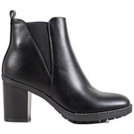 Ideal Shoes Komfortable støvler sort