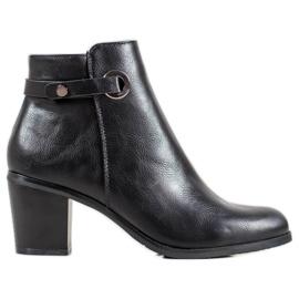 Ideal Shoes Klassiske Eco læder støvler sort