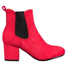 Bestelle Slip-on ankelstøvler rød