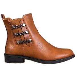 SHELOVET Elegante Jodhpur-støvler brun