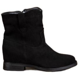 Ideal Shoes Varme cowboy-støvler på kile sort