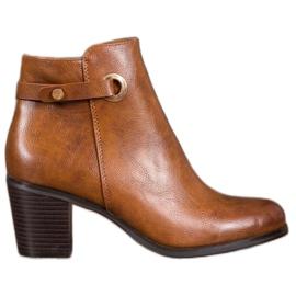 Ideal Shoes Klassiske Eco læder støvler brun