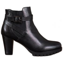 Anesia Paris Sorte støvler med en spænde