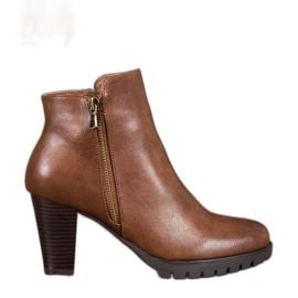 Anesia Paris Elegante ankelstøvler med Eco-læder brun