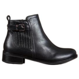 Nio Nio Moderigtige støvler med spænde sort