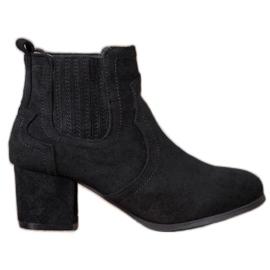 Nio Nio Jodhpur støvler på høje hæle sort