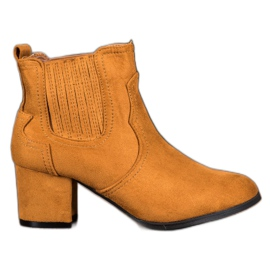Nio Nio Jodhpur støvler på høje hæle brun