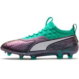 Puma One 1 Il Lth Fg Ag M 104925 01 fodboldsko grøn