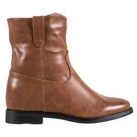 Ideal Shoes Cowboy-støvler med Eco-læder brun