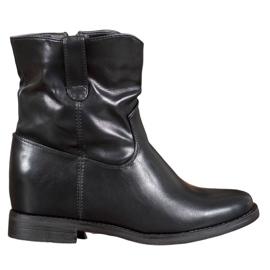 Ideal Shoes Cowboy-støvler med Eco-læder sort