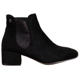 Ideal Shoes Jodhpur støvler med glitter sort