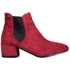 Ideal Shoes Jodhpur støvler med glitter rød