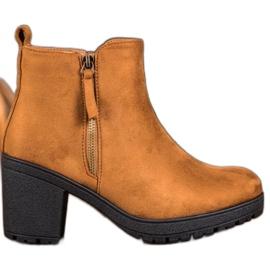 SHELOVET Komfortable ankelstøvler i platformen brun