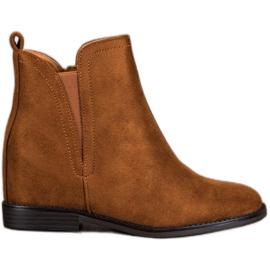 SHELOVET Komfortable Cowboy støvler brun