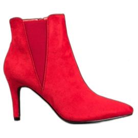 Marquiz Ankelstøvler rød