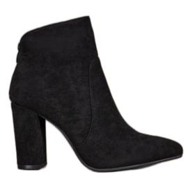 Ideal Shoes Klassiske ankelstøvler sort