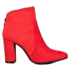 Ideal Shoes Klassiske ankelstøvler rød