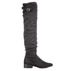 SHELOVET Stilfulde støvler over knæet sort