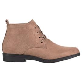 Goodin Komfortable ruskindstøvler brun