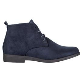 Goodin Komfortable ruskindstøvler blå
