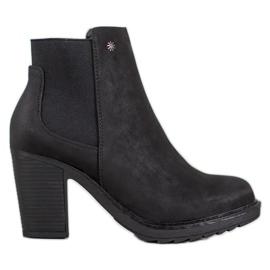 Goodin Slip-on høje hæle sort