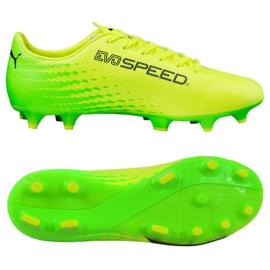 Puma Evo Speed 17.4 Fg M 104017 01 fodboldstøvler gul grøn, gul