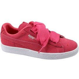 Puma Suede Heart Jr 365135-01 sko rød