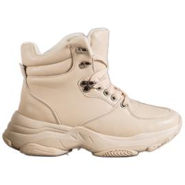 Ideal Shoes Eco læder sneakers brun